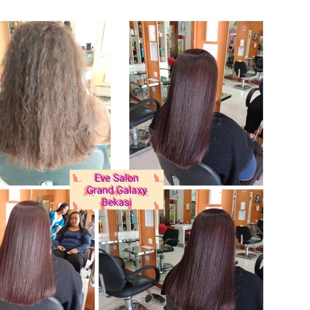 Salon meluruskan rambut dan lembut di Galaxy Jatiasih Bekasi